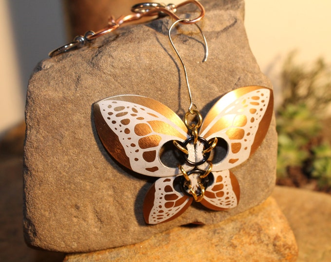 Faerie Butterfly - Etched Gold - Ornament