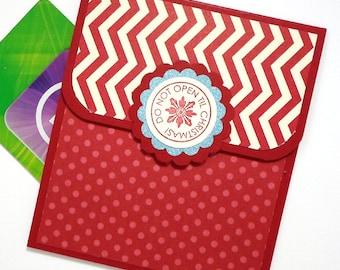 Christmas Gift Card Holder - Do Not Open til Christmas Card - Christmas Money Card - Holiday Gift Card Holder - Christmas Cash Envelope