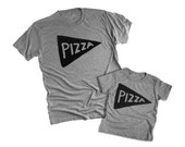 Free Shipping! Fathers Day Gift - Matching Father Son Shirt Sale - Pizza Shirt - graphic tee - for him - for dad from kid - father daughter