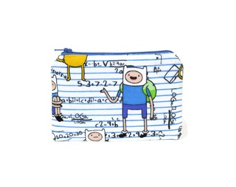 Adventure Time Bag / Zipper Pouch in Adventure Time Jake and Finn / Geeky Gift