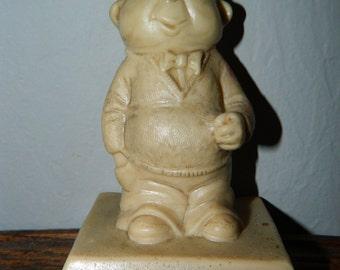 "1970 ""I Wuv You"" Statue Figure, Man Night Shirt,  Big Eyes, Valentines Day Figurine, Little Man"