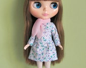 Low waist dress and scarf set for Blythe