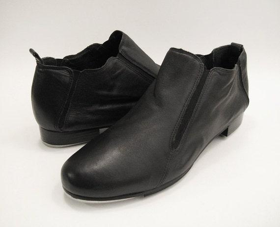 s tap shoes capezio sz 11 5 m black leather tap shoes