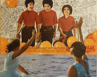 Folkzilla - old record album cover collage [ vintage lp vinyl ]