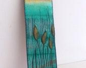 Embroidered Textile Art -Autumn Sunset III