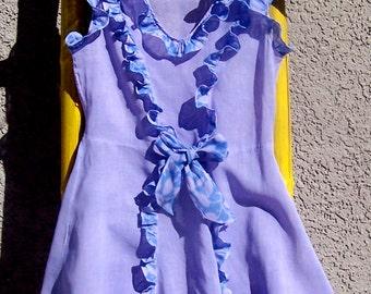 Vintage Mid Century Girl's Sundress POLLY PRIM LAVENDER