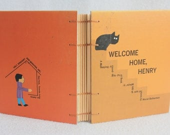 Vintage Book Journal / Recycled Old Book / Welcome Home Henry Rebound Journal / by PrairiePeasant