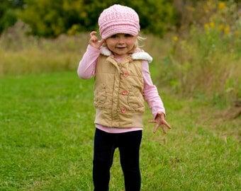 5 Sizes Light Pink Newsboy Cap Baby Newsboy Hat Baby Girl Newsboy Toddler Newsboy Toddler Girl Newsboy Womens Newsboy Crochet Winter Hat