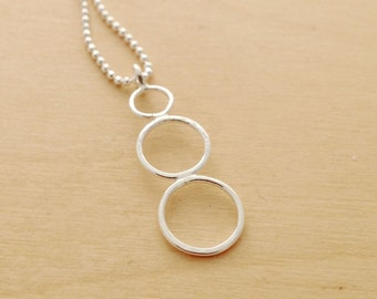 Sterling silver Orbitals - Earth