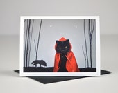 AC is Little Red Riding Hood Greeting Card