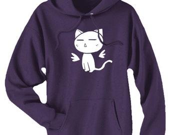Angel Kitty Hoodie cute kitten pastel goth kawaii clothing cat hoodie gothic decora harajuku pullover
