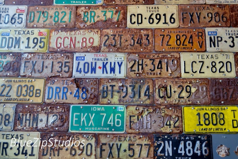 Dallas Texas Photograph Licence Plate Photo Number Plate