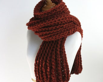 Ribbed Scarf, Super Scarf, Huge Scarf, Oversized Scarf, Chunky Scarf, Knit Scarf, Wool Scarf, Spice