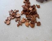 12 mushroom cab settings copper for enamel vintage old new stock