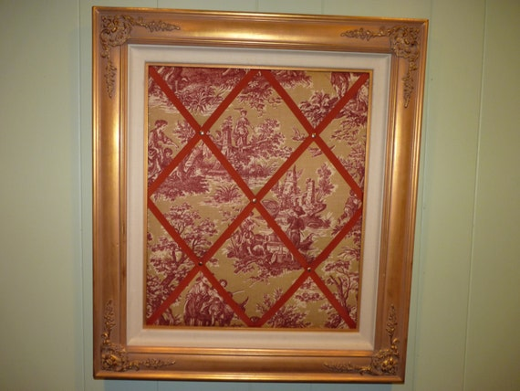 32 X 28 Gold Baroque Frame Memo Board Stylish By