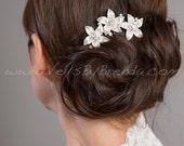 Petite Flower Bridal Hair Comb, Rhinestone Wedding Headpiece, Bridal Hair Piece, Wedding Hair Accessory - Bree