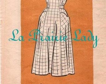 Repro Vintage Full Apron 40s Pattern on PDF No 20 Plus Size 24 1/2