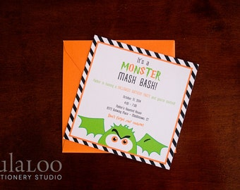 Fun Kids Halloween Party Invitation - Monster Mash