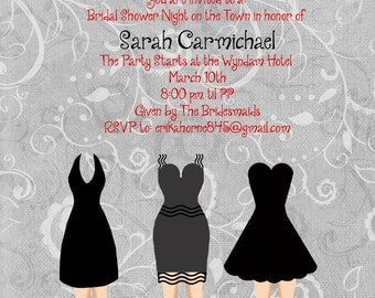 Little Black Dress Bridal Shower Invitation