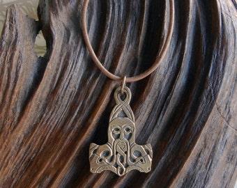 Oku-Thor Style Bronze Thor's Hammer Necklace