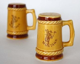 Vintage Montana Souvenir Salt and Pepper Shaker Set