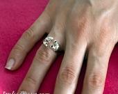 Panda Ring Adjustable Sterling Silver