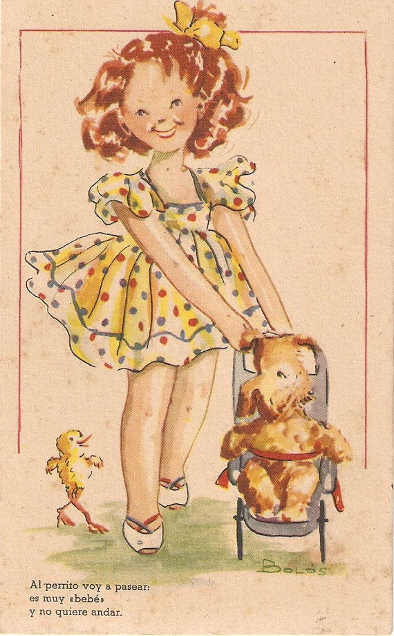 porceval spain vintage puppy