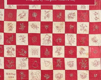 Redwork Revival Embroidery Digital eBook PDF - 300+ vintage embroidery designs plus quilt pattern