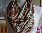 Striped Polyester Infinity Scarf - Sustainable Accessory