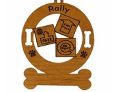 Rally Personalized Wood Dog Sport Ornament