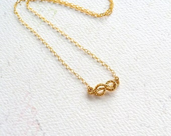 Sailor's Knot Necklace - gold sailors knot necklace, silver rope knot necklace, nautical knot necklace, infinity knot necklace N25/N26/N27