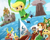 Hero of Time and Seas 12x18 art poster print