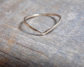 Chevron Ring 14k Gold Fill