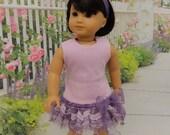 Lovely in Lavender - Tank dress for American Girl doll