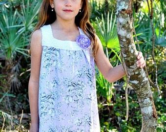 Girl's Maxi Dress, summer dress, bohemian dress, purple rose dress, infant dress, toddler dress, Spring dress, BOHO, Newborn through 7/8Y
