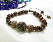 3 bracelets for Sarada with priority mail Mala Japa Yoga Tibetan Rudraksha Guru OOAK Bracelet  Adjustable Or Elastic