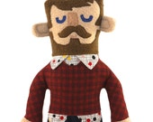 James the Hipster Dude Plush