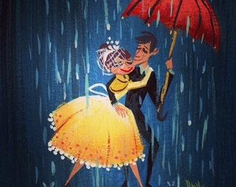 Couple in the Rain - Print