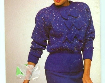 Vintage 1980s Sweater Patterns Patons Venus & Valencia Dream Knits Beehive Pattern Book #615
