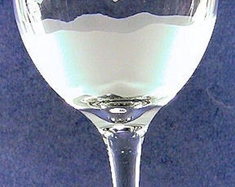 2 Wine Goblet 20 oz. hand etched American Made HEART 3Peat.