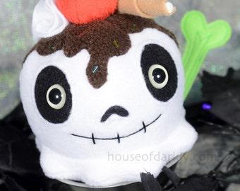 Spooky Sundae Limited Edition skull ice cream handmade plush