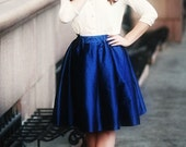 Miss Cynthia's Party skirt ~ Vintage Inspired Taffeta skirt with gathered waist ~ pockets at side seam
