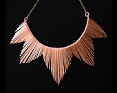 Copper Necklace - Egyptian Collar Inspired - Southwestern Bridal Jewelry - Copper Jewelry- handmade in Austin, Tx