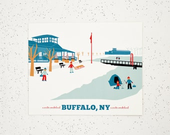 Buffalo, NY Outer Harbor Print, Gift for Him or Her, 15 gift