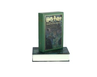 Hollow Book Box Harry Potter Deluxe Half Blood Prince Booksafe with Slipcase Cut and Detailed By Hand Great Gift For Teen - CUSTOM ORDER