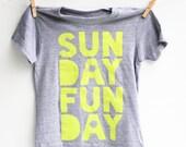 Sunday Funday - kid's hand printed t-shirt