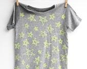 Star Bright - kid's hand printed t-shirt