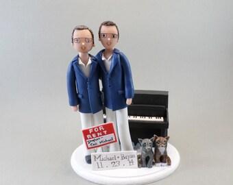 Cake Topper Custom Made Same Sex Couple Wedding