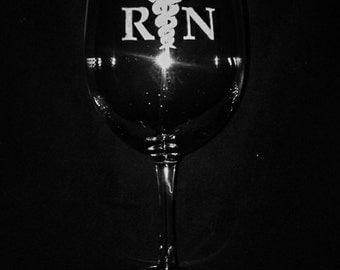Registered Nurse Engraved 11 Ounce Wine Glass