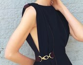 Camille Backless Navy Cocktail Dress